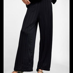 Zara wide leg pants with satin stripes
